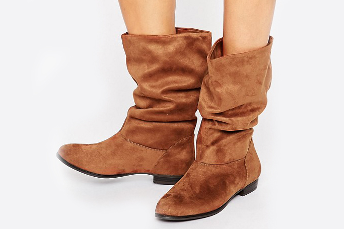 Call it Spring Gogali Scrunch Flat Calf Boots