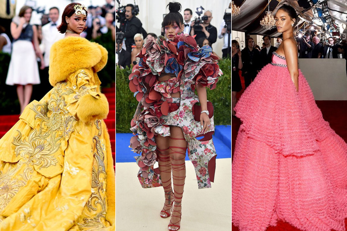 Rihanna's iconic red carpet looks