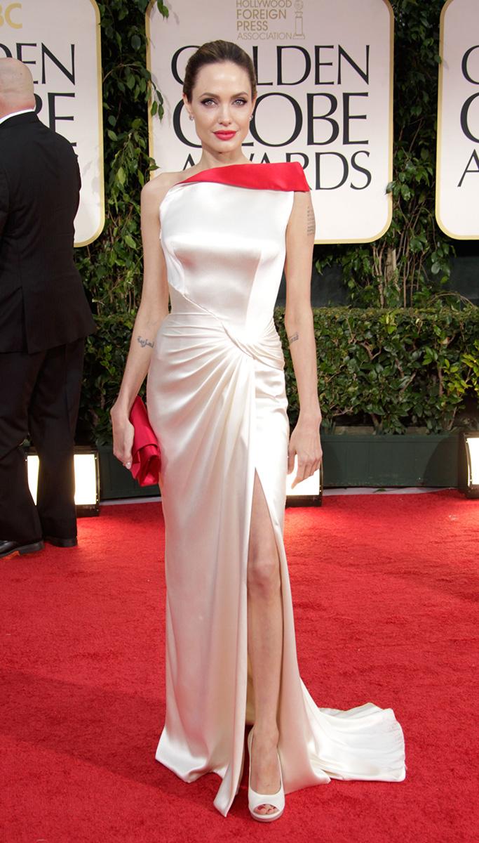 Angelina Jolie At The Golden Globe Awards 2012