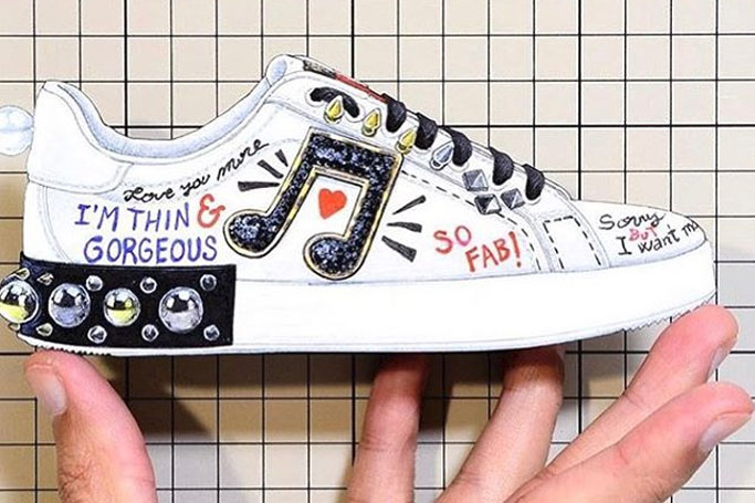 dolce and gabbana thin and gorgeous sneakers