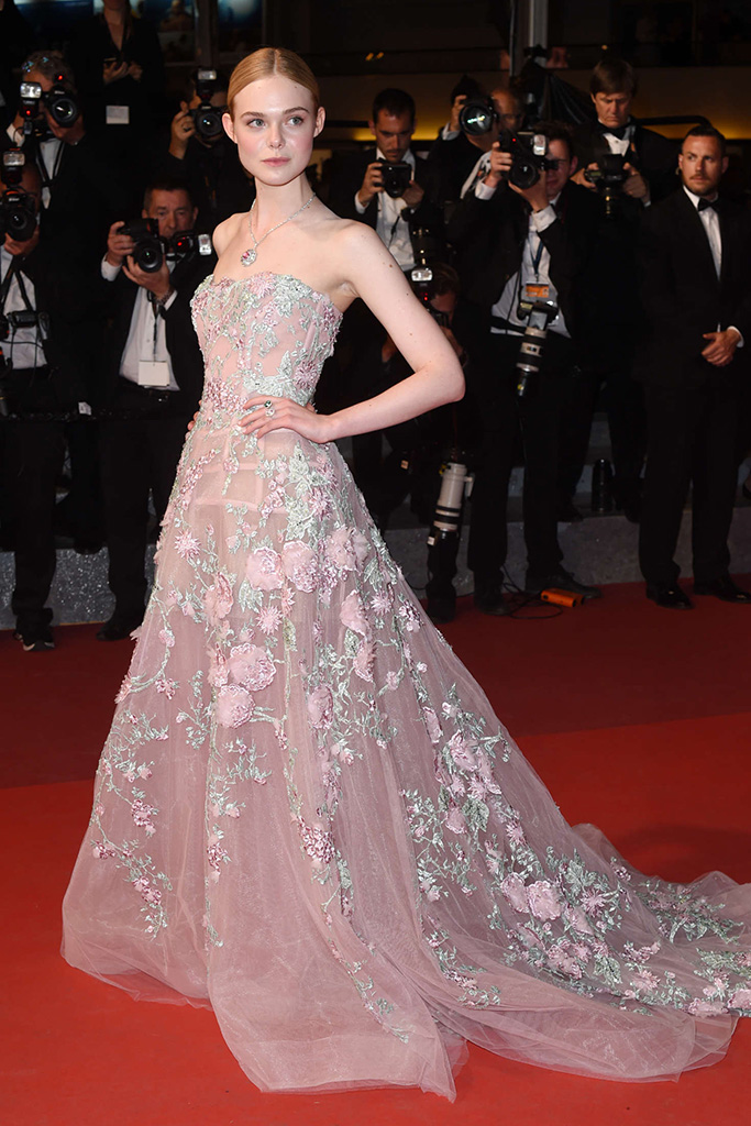 Elle Fanning at The Cannes Film Festival 2016 in Zuhair Murad