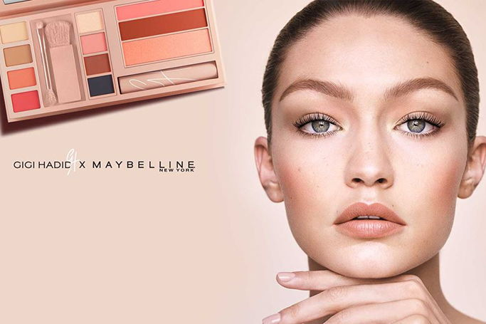 Gigi Hadid X Maybelline collection buy in Dubai