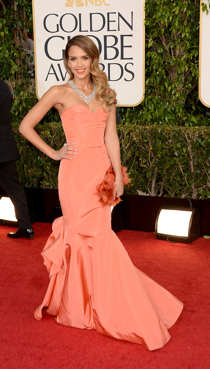 Jessica Alba  At The Golden Globe Awards 2013