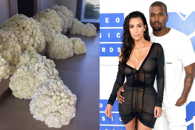 Kanye West's Anniversary Gift To Kim Kardashian Looks Like Huge Pieces Of Cauliflower