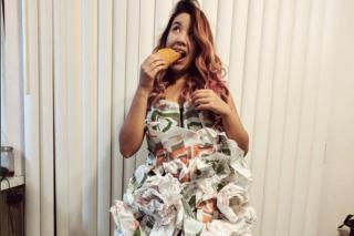 This Woman Made An Incredible Wedding Dress Out Of Burrito Wrappers