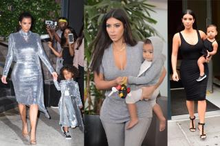 kim k north west matching outfits