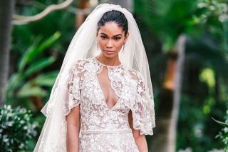 Chanel Iman Weds Sterling Shepard In Zuhair Murad