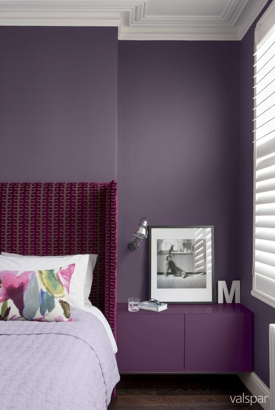 10 ways to use ultra violet in your home ewmoda for Bedroom trends 2018