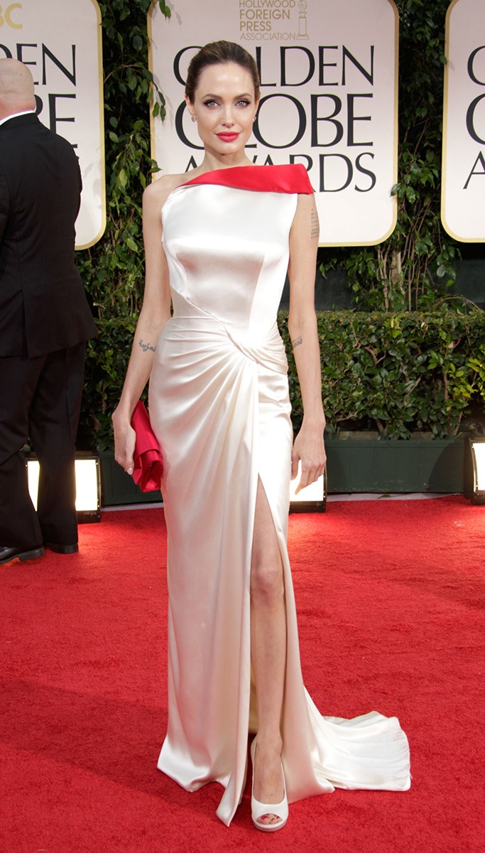 Angelina Jolie At The Golden Globe Awards 2012