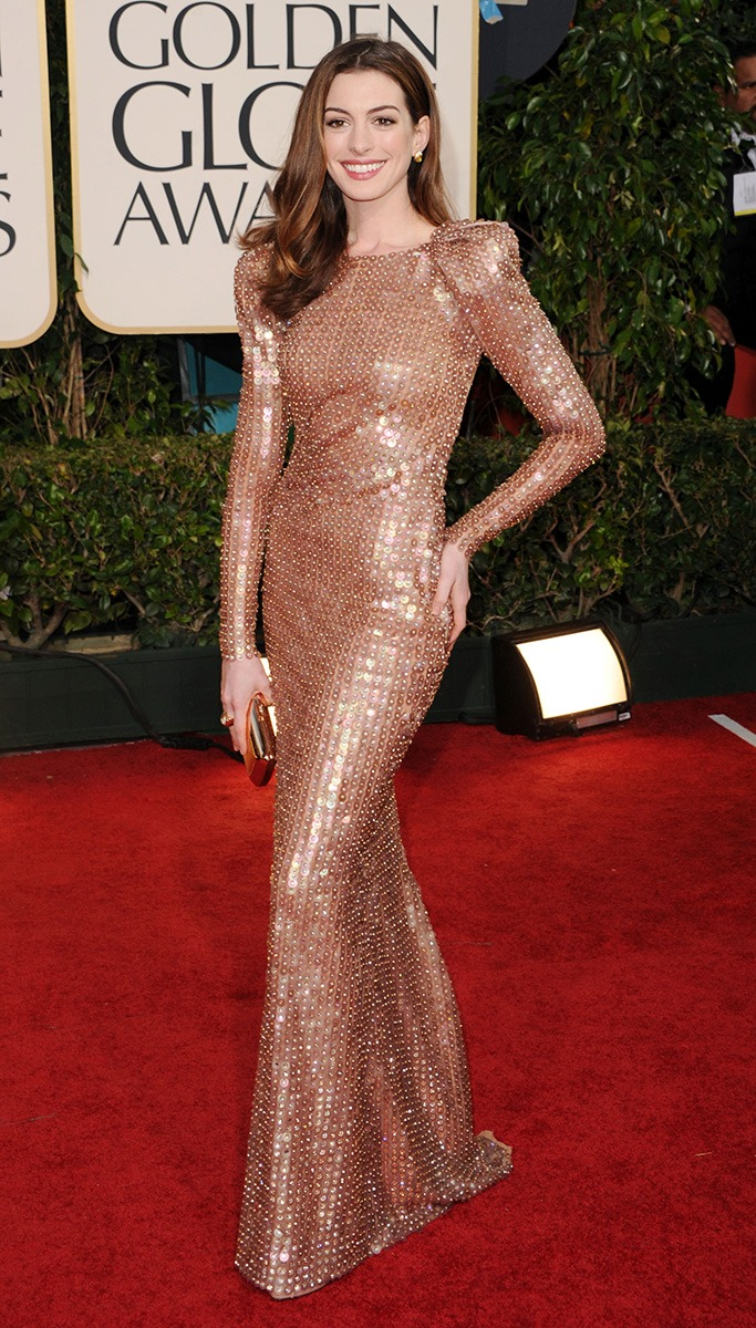 Anne Hathaway At The Golden Globe Awards 2011