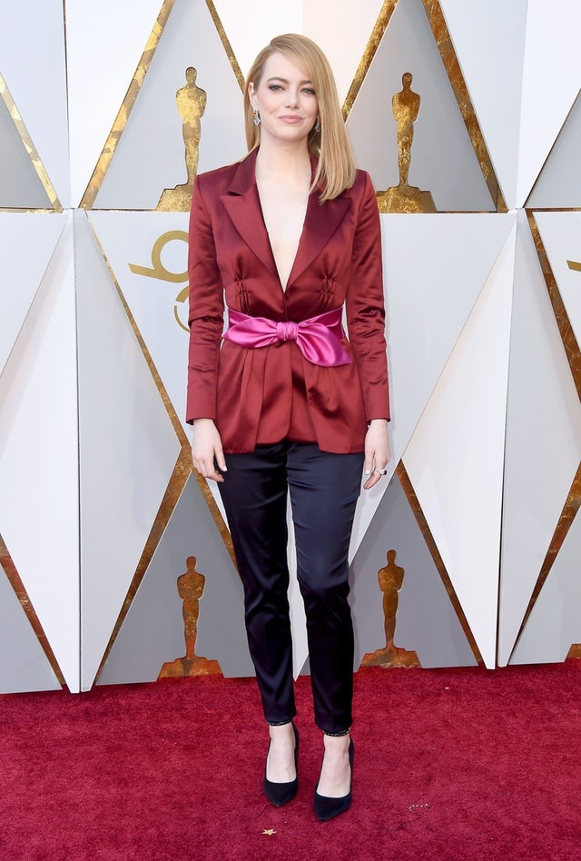 Emma Stone's Oscars 2018 suit