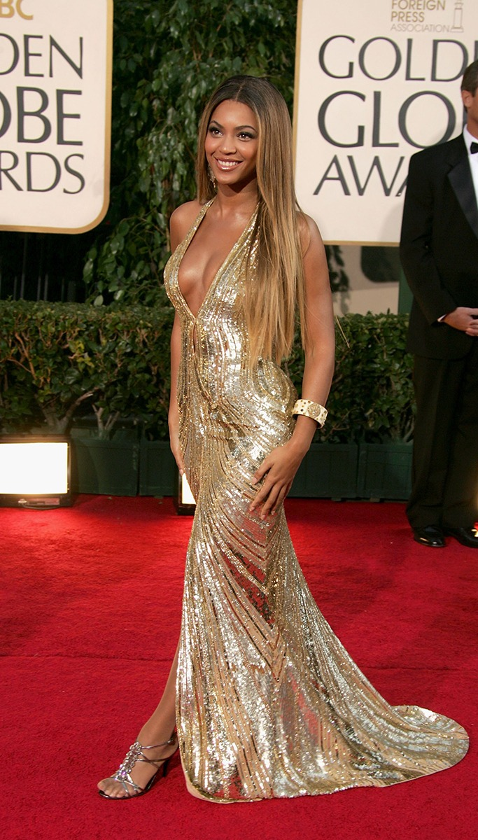 Beyonce At The Golden Globe Awards 2007