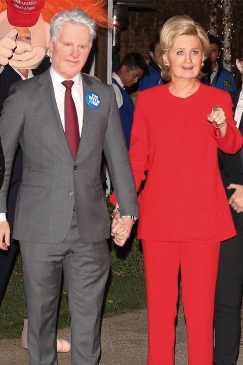 Hillary and Bill Clinton halloween costumes
