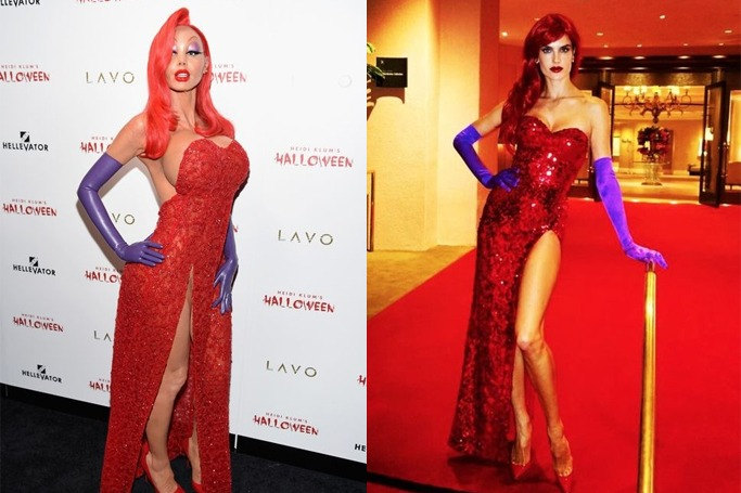 Celebrity Jessica Rabbit Halloween costumes