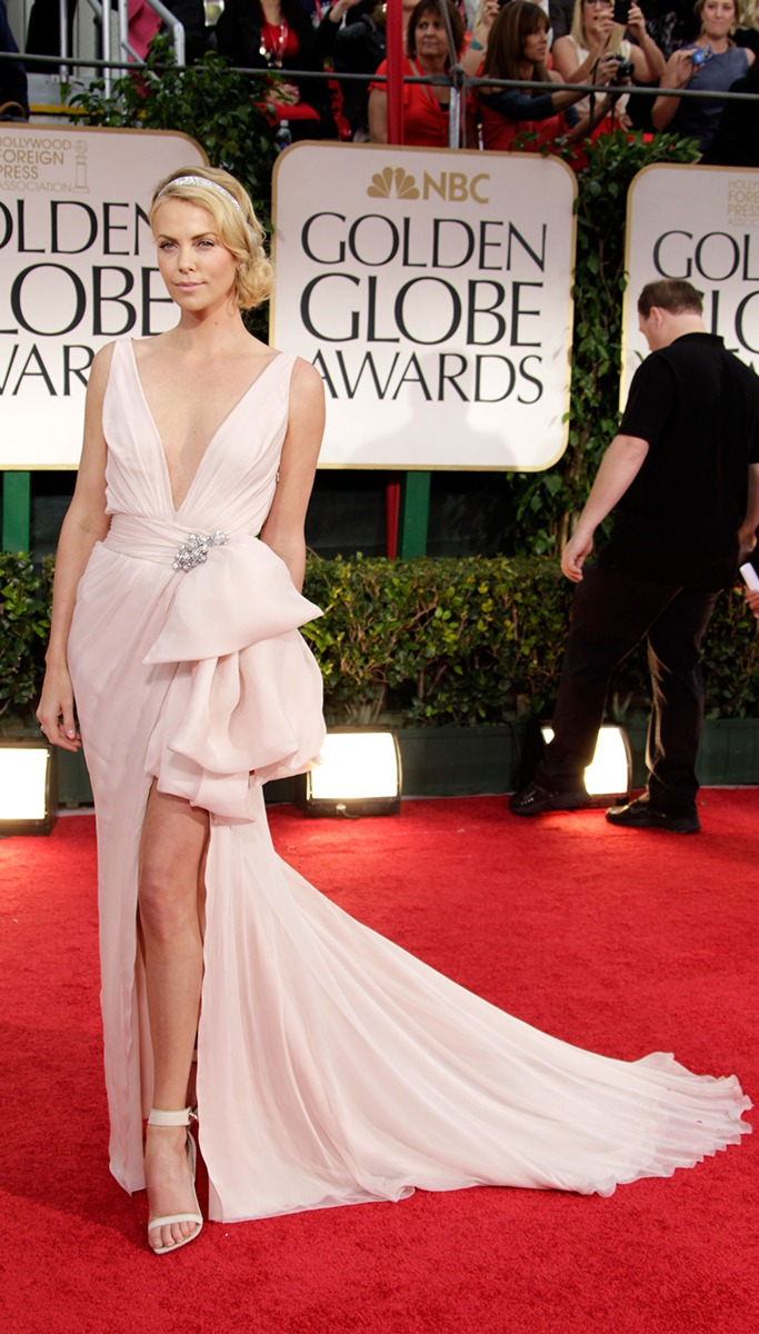 Charlize Theron At The Golden Globe Awards 2012