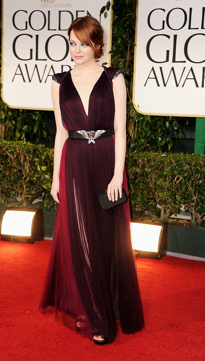 Emma Stone At The Golden Globe Awards 2012