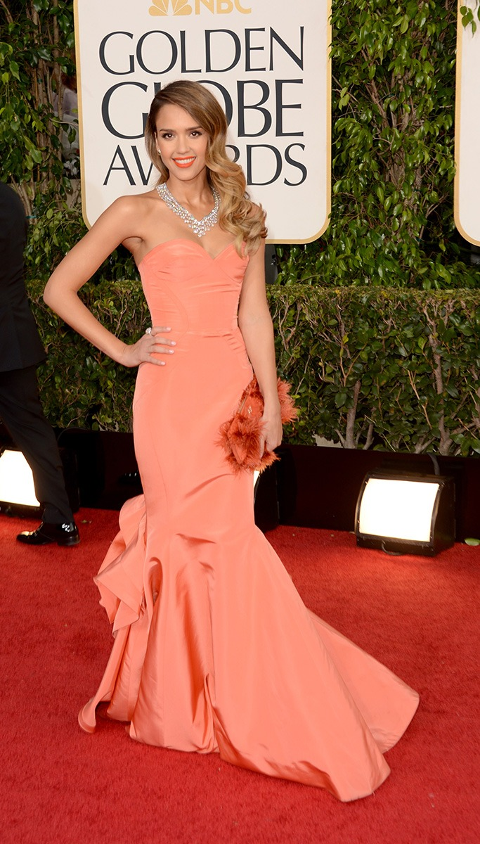 Jessica Alba  At The Golden Globe Awards 2013