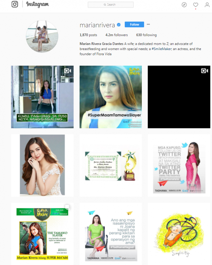Marian Rivera - Pinoy on Instagram