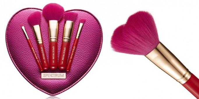 Spectrum Valentines Bag and Brush Set