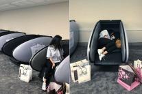 The Dubai Mall Has A Sleep Pod Lounge For Tired Shoppers