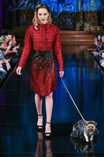 Anthony Rubio's canine couture at NYFW
