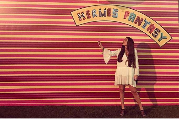 Dubai's Best Dressed: Hermès Fantasy At Burj Park
