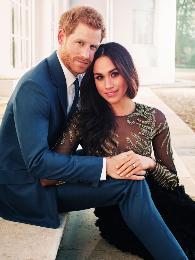 Engaged Prince Harry and Meghan Markle