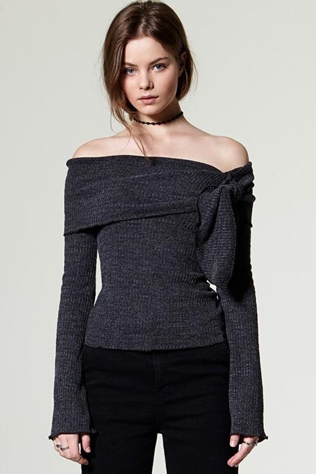 Storets - Aina Ribbon Off-the-Shoulder Top