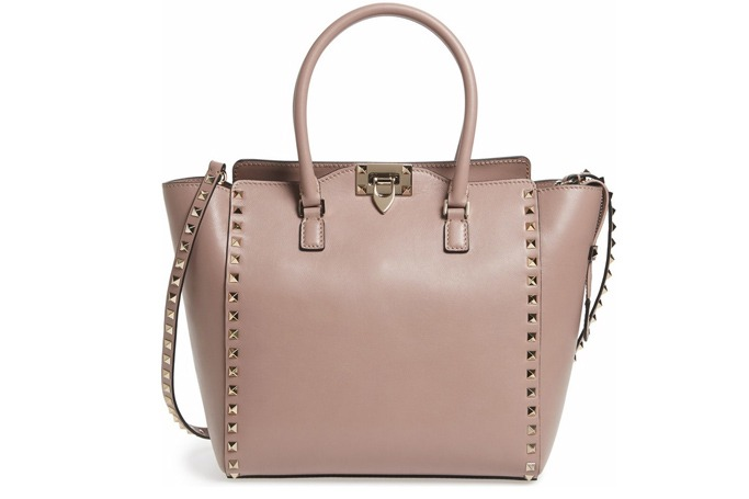 Valentino - 'Rockstud' Leather Double Handle Tote
