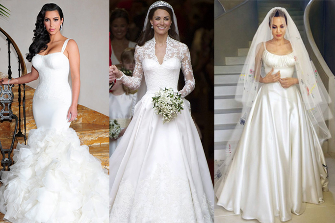 18 Best Celebrity Wedding Dresses Of All Time | Who What Wear